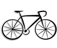 Bicycle drawing. Illustration of bicycle drawing on white background Stock Photos