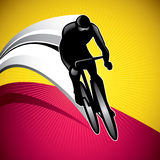 Bicycle driver. Designed background with bicycle driver vector illustration