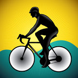 Bicycle driver. Stylized illustration of bicycle driver Stock Images