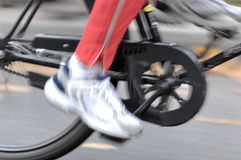 Bicycle driving Stock Images