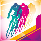 Bicycle driving background. Stock Photography