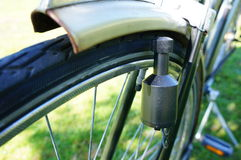 Bicycle dynamo royalty free stock image