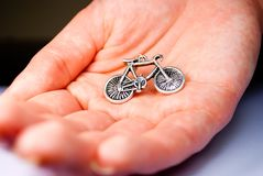 Bicycle earring Royalty Free Stock Images
