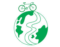 Bicycle. The bicycle on the earth Stock Image