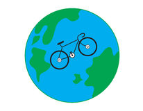 Bicycle. The bicycle on the earth Stock Photo