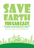 Bicycle Earth Day,Print A4. Size royalty free illustration