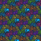 Bicycle and earth pattern Stock Photography