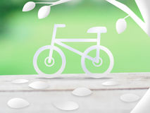Bicycle ecology concept Stock Photo