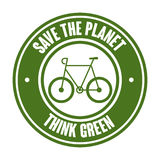 Bicycle ecology vehicle isolated icon. Vector illustration design Stock Photography