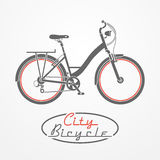 Bicycle emblem Royalty Free Stock Images
