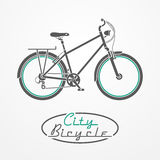Bicycle emblem Stock Photography