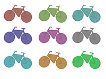 The bicycle emblem. Stock Photos