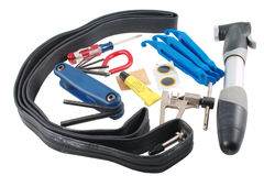 Bicycle emergency repair kit Royalty Free Stock Images