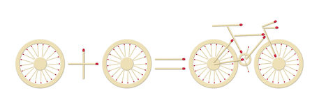 Bicycle equation royalty free stock image