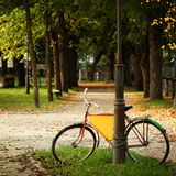 Bicycle in Estonian park, european culture Stock Photography