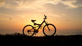 Bicycle  in evening Royalty Free Stock Images