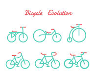 Bicycle evolution. It is illustration Royalty Free Stock Images