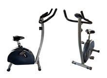 Bicycle exercise machine Stock Photo