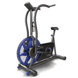 Bicycle exercise machine isolated on white. 3D Illustration Stock Photos