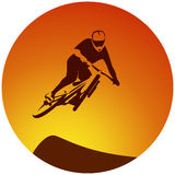 Bicycle extreme sport racer Royalty Free Stock Images