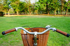Bicycle in field Stock Images