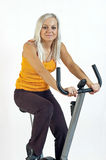 Bicycle fitness Royalty Free Stock Photo