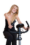 Bicycle fitness Stock Image