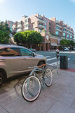 Bicycle with fixed gear in Embarcadero area in San Francisco Stock Photo
