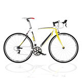 Bicycle fixed gear. Race road bike isolated bicycle on white, fixed gear royalty free illustration
