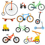 Bicycle flat style  on white background vector illustration Royalty Free Stock Photography