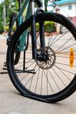Bicycle flat tire stock images