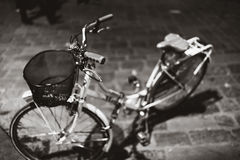 Bicycle Florence mono Stock Photo