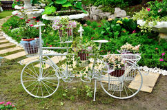 Bicycle in flowers cluster Royalty Free Stock Photography