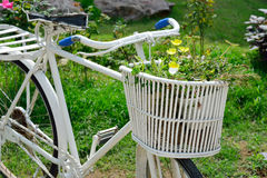 Bicycle with flowers decoration Stock Photo
