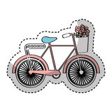 Bicycle with flowers drawing Royalty Free Stock Photo