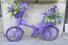 Bicycle with flowers Royalty Free Stock Image