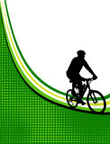 Bicycle frame. Green bicycle frame, illustration stock illustration