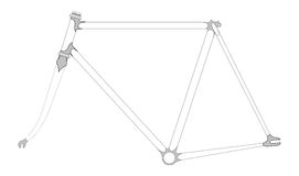 Bicycle frame Royalty Free Stock Photos