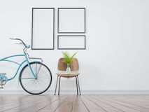 Bicycle frames, vases and chairs in white clean. vector illustration