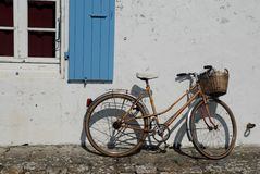Bicycle in France. Life style in France, bicycle Stock Photography