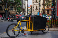 Bicycle freight transport. Royalty Free Stock Photos