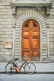 Bicycle and Front Door Stock Image