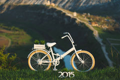 Bicycle in Front of Scenery Royalty Free Stock Photo