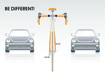 Bicycle front view Stock Image