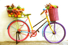 Bicycle Fruit Shop Stock Photography