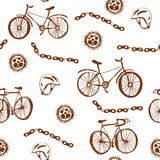 Bicycle funny seamless pattern Royalty Free Stock Photos