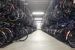 Bicycle garage Stock Photography