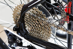 Bicycle gear cassette of the mountain bike Royalty Free Stock Photo