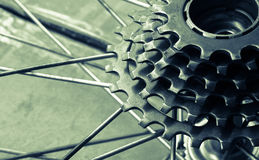 Bicycle gear cassette Royalty Free Stock Images