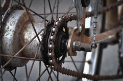 Bicycle Gear and Chain Royalty Free Stock Photography